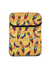 The Elephant Company Tropical Birds & Feathers Yellow Ipad Mini Sleeve, multicolor
