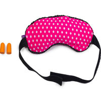 Viaggi Microbeads eye mask with ear plugs, pink