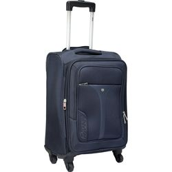 VIP Benz Strolly Exp 4 Wheel Nylon Softsided Carry-On, blue