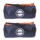 Kvg Unisex Gym Bags Combo, blue and orange