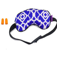 Viaggi Microbeads eye mask with ear plugs, blue