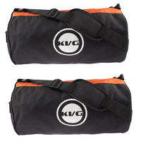 Kvg Unisex Gym Bags Combo, black and orange