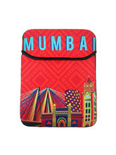 The Elephant Company Mumbai Cityscape Orange Ipad Sleeve, multicolor