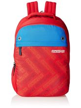 American Tourister Casual Backpack For Unisex, red and blue