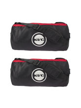Kvg Unisex Gym Bags Combo, black and red