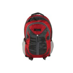 Bleu School Bag Ideal for Kids, red and grey