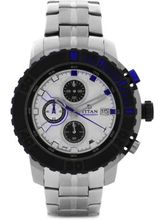 Titan Octane AW Analog White Dial Men's Watch-90029KM02