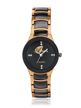 Arum Black And Copper Analog Casual Watch