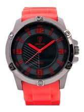 Fashion Track By Optima Mens Watch, red, black