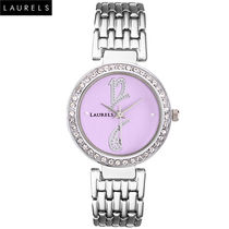 Laurels Premium Women Watch LL-Amb-102, silver, purple