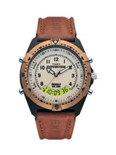 Timex Beige Dial And Brown Strap Expedition Analog Digital Unisex Watch - Mf13
