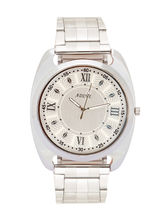 Adine Silver Dial Analog Watch For Men