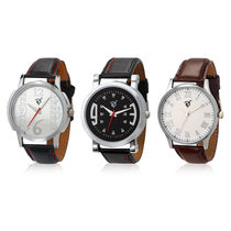 Rico Sordi Set of 3 Mens Leather Watches RSD17-S3-2, multicolor, multicolor