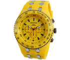 Exotica Fashions Strap Gents Watch (EF-01-YELLOW-PL)