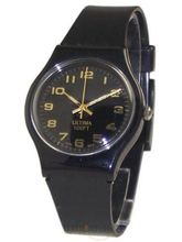 Ultima Black Strap Casual Watch (UL-05)