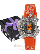 Geneva Kids Orange Dial Watch (GAS-Orange)