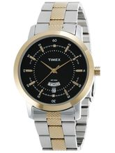 Timex Classic Analog Silver Dial Men's Watch-G911, black, steel gold