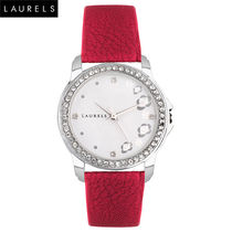 Laurels Fiona Ladies Watch, red, silver