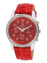 Chappin & Nellson CN-L-07-Red Ladies Watch, red, red