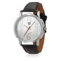 Rico Sordi Mens Leather Watch RSMW-4, black, silver
