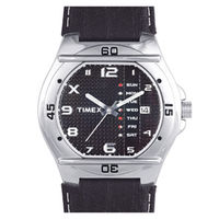 Timex ¬ â €   Fashion Analog Black Dial Men's Watch-EL03, black, black