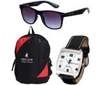 PCBC COMBO-4 Gents Watch + Sunglass + Backpack