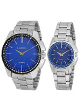 Laurels August Analog Blue Dial Couple's Watch-Lo-AGST-0307C