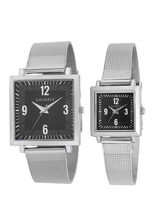 Laurels Bran Series Black Couple Watch (LO-BRN-0207C)