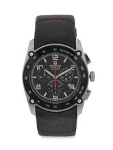 Swiss Military Men's Chronograph Swiss Movement Leather Watch