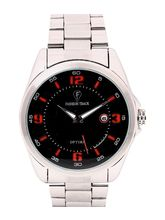 Fashion Track By Optima Mens Watch, silver, black