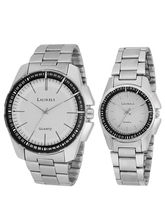 Laurels August Series White Couple Watch (LO-AGST-0107C)