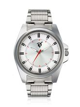 Mens Steel Watch, silver, white