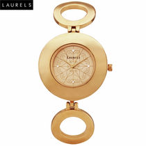 Laurels Premium Women Watch LL-Aura-101, gold, gold