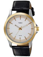 Timex Off White Dial And Black Strap Analog Watch For Men - Tw000X102