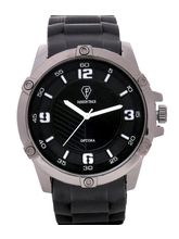 Fashion Track By Optima Mens Watch, black, black