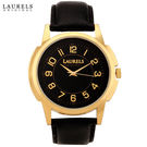 Laurels Original Men Watch Lo-Ex-Black, black, black