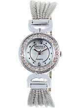 Silver Round Analog Ladies Watch (EFL-05W)