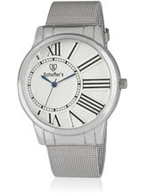 Scheffer's Analog Watch For Men SC-W-S-3347, white, silver