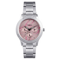 Timex ¬ â €   E-Class Analog Women Watch - TI000Q80100, silver, pink