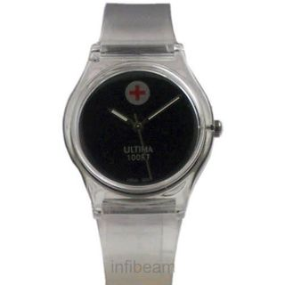 Ultima White Strap Casual Watch (UL-06)