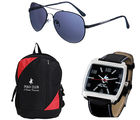 PCBC COMBO-5 Gents Watch + Sunglass + Backpack
