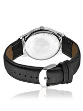 Arum Latest Design In Black Leather Watch