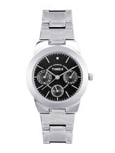 Timex E-Class Analog Black Dial Women's Watch-J104, black, silver