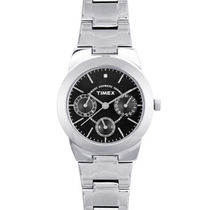 Timex ¬ â €   E-Class Analog Black Dial Women's Watch-J104, silver, black