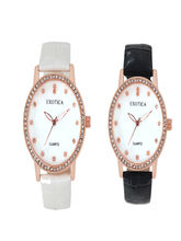 Chappin and Nellson AnalogBlack and White Combo Watches For Women