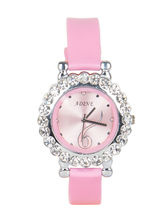 Adine Pink Dial Analog Watch For Women