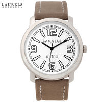 Laurels Original Men Watch, beige, silver