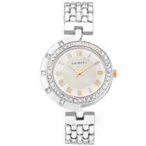 Laurels Premium Women Watch LL-Ganga-101, gold, silver
