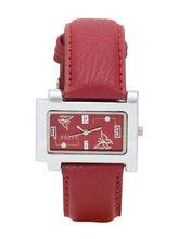 Adine Red Dial Analog Watch For Women