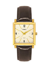 Timex Beige Dial And Brown Strap Analog Watch For Men - Ti000T20000